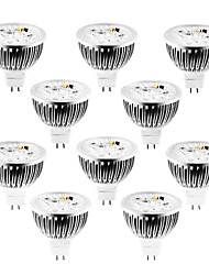 cheap -JIAWEN 4 W LED Spotlight 320 lm MR16 4 LED Beads High Power LED Natural White Cold White Warm White 12 V 12 V, 10pcs