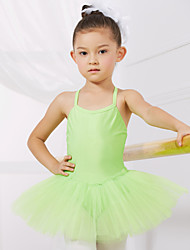 cheap -Ballet Leotards Training / Performance Spandex / Tulle Sleeveless Princess Dress