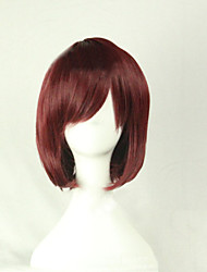 cheap -Synthetic Wig Cosplay Wig Straight Style Asymmetrical Wig Brown Synthetic Hair Women's Natural Hairline Brown Wig Short