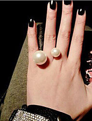 cheap -Women's Statement Ring Golden Pearl Imitation Pearl Alloy Classic Romantic Daily Casual Jewelry