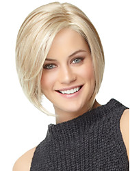 cheap -Synthetic Wig Straight Straight Bob With Bangs Wig Blonde Synthetic Hair Women's With Bangs Blonde StrongBeauty