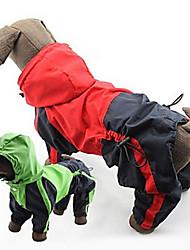 cheap -Dog Rain Coat Waterproof Outdoor Dog Clothes Red Green Costume Mixed Material XXXXL XXXXXL