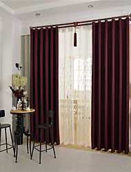 cheap -Country Curtains® One Panel Wine Solid Blackout Curtain