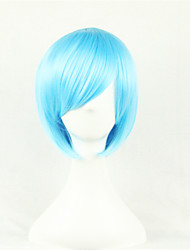 cheap -Synthetic Wig Cosplay Wig Straight Minaj Style Asymmetrical Wig Blue Synthetic Hair Women's Natural Hairline Blue Wig Short