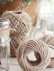 cheap -Solid Color Jute Wedding Ribbons Piece/Set Weaving Ribbon Gift Bow Decorate favor holder Decorate gift box Decorate wedding scene