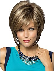cheap -Synthetic Wig Straight Straight Pixie Cut Wig Blonde Short Blonde Synthetic Hair Women's Blonde StrongBeauty