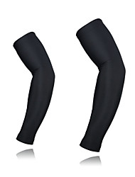 cheap -1 Pair Arsuxeo Cycling Sleeves Sun Sleeves Compression Sleeves Solid Color UPF 50 Lightweight Sunscreen Bike White Black Light Green Elastane Winter for Men's Women's Adults' Road Bike Mountain Bike