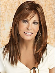 cheap -Synthetic Wig Straight Straight With Bangs Wig Long Brown Synthetic Hair Women's With Bangs Brown StrongBeauty