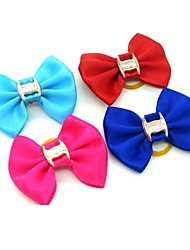 cheap -Lovely Pure Color Rubber Band Hair Bow for Pet Dogs  (Random Color)