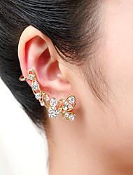 cheap -Women's Cubic Zirconia Clip on Earring Butterfly Animal Cubic Zirconia Imitation Diamond Earrings Jewelry Screen Color For
