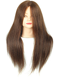 cheap -18 Inch Blended Hair Salon Female Mannequin Head with Make-up Color Brown