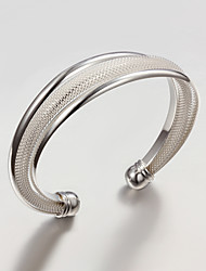 cheap -Cuff Bracelet Ladies Party Work Casual Silver Plated Bracelet Jewelry Silver For Party