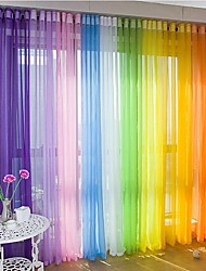 cheap -Rod Pocket Grommet Top Tab Top Double Pleat One Panel Curtain Modern Material Sheer Curtains Shades Home Decoration