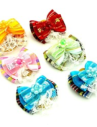 cheap -Fashionable Flower Shape  Rubber Band Hair Bow for Pet Dogs  (Random Color)