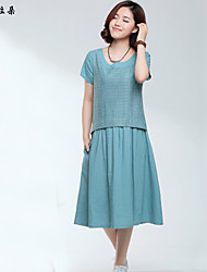 cheap -Vintage Cute Dress - Solid Colored