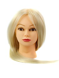 cheap -synthetic hair salon female mannequin head with make up