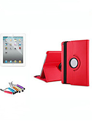 cheap -Case For Apple iPad Air / iPad 4/3/2 / iPad Mini 3/2/1 360° Rotation / with Stand / Auto Sleep / Wake Full Body Cases Solid Colored Hard PU Leather