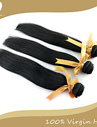 cheap -3 Bundles Peruvian Hair Straight Classic Virgin Human Hair Natural Color Hair Weaves / Hair Bulk 12-14 inch Black Human Hair Weaves Human Hair Extensions / 10A