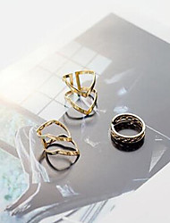 cheap -Jewelry Set Golden Alloy Ladies Personalized Unusual One Size / Women's