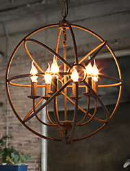 cheap -1-Light 50 cm Candle Style Chandelier Metal Globe Painted Finishes Rustic / Lodge 110-120V / 220-240V