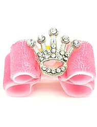 cheap -Cat Dog Hair Accessories Hair Bow Dog Clothes Pink Costume Mixed Material Tiaras & Crowns Birthday Holiday