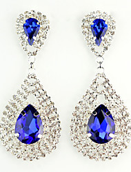 cheap -Fashion Wedding Party Rhinestone Earrings With Crystal Earrings(Blue,Green)(1 pair)