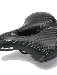 Недорогие -Седло для велосипеда Очень широкий Комфорт Подушка Полый дизайн Кожа PU губка силикагель Велоспорт Шоссейный велосипед Горный велосипед Черный