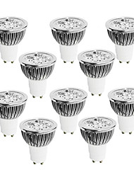 cheap -10 pcs 4W GU10 LED Light Cup White Warm White Natural Light AC85-265V