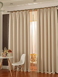 cheap -Country Curtains® One Panel Ivory Solid Blackout Curtain