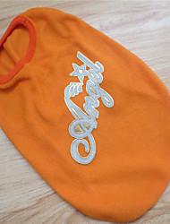 cheap -Dog Shirt / T-Shirt Dog Clothes Stars Letter & Number Orange Pink Light Blue Polar Fleece Costume For Winter