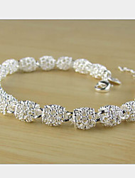 cheap -Women's Chain Bracelet Ladies Unique Design Party Fashion Brass Bracelet Jewelry Silver For Party Gift Valentine