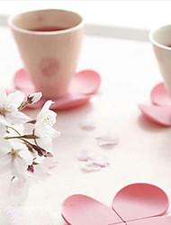 billige -silikone blomst formet kop coaster sakura varme-bevis måtter (tilfældig farve) 9,5 * 9,5 * 1,5 cm