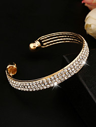 cheap -Women's Crystal Bracelet Bangles Cuff Bracelet Tennis Bracelet Tennis Chain Ladies Crystal Bracelet Jewelry Silver / Golden For Wedding Party Daily Casual Masquerade Engagement Party