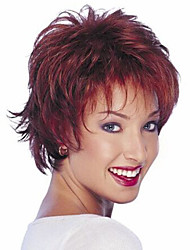 cheap -Synthetic Wig Curly Curly Wig Fuxia Synthetic Hair