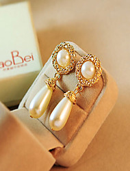 cheap -Women's Drop Earrings two stone Drop Ladies European Imitation Pearl Rhinestone Earrings Jewelry Gold / Cream For Wedding Masquerade Engagement Party Prom Promise