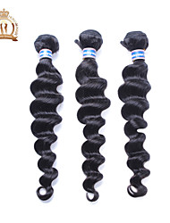 cheap -Virgin Human Hair Remy Weaves Loose Wave Malaysian Hair 300 g More Than One Year Daily / Black
