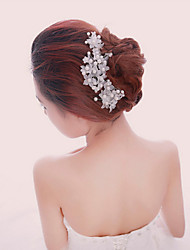 cheap -Pearl / Crystal / Fabric Crown Tiaras / Headbands / Hair Combs with 1 Piece Wedding / Special Occasion / Party / Evening Headpiece / Flowers / Hair Pin