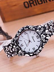 cheap -Women's Bracelet Watch Quartz Black Hot Sale Analog Ladies Flower Fashion - Black Golden One Year Battery Life / Tianqiu 377