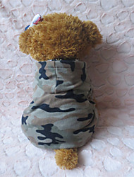 cheap -Dog Hoodie Dog Clothes Camouflage Color Polar Fleece Costume For Winter
