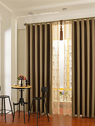 cheap -One Panel Brown Solid Blackout Curtain