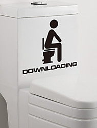 Недорогие -Мода / Отдых Наклейки Простые наклейки Наклейки для туалета, Винил Украшение дома Наклейка на стену Стена Украшение / Съемная