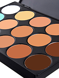 cheap -15 colors 3in1 professional natural concealer foundation bronzer makeup cosmetic palette assorted 2 color