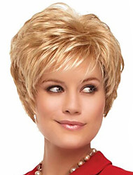 cheap -Synthetic Wig Curly Style Pixie Cut Wig Blonde Blonde Synthetic Hair Women's Blonde Wig Short