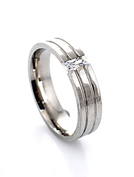 cheap -Women's Band Ring Groove Rings Crystal Silver Crystal Alloy Fashion Party Daily Jewelry