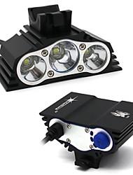 Недорогие -Налобные фонари Наборы фонариков Светодиодные лампы Водонепроницаемый 7500 lm Светодиодная лампа LED 3 излучатели 4.0 Режим освещения / Алюминиевый сплав