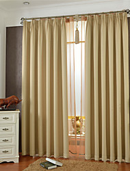 cheap -Country Curtains® One Panel Beige Solid Blackout Curtain