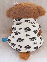 cheap -Dog Shirt / T-Shirt Dog Clothes Cartoon Black / White Terylene Cotton Mixed Material Costume For Winter