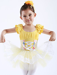 cheap -Ballet Dresses / Dresses&Skirts / Tutus & Skirts Training / Performance Cotton / Tulle Short Sleeves Princess Dress