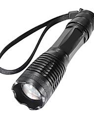 Недорогие -XML-T6 Светодиодные фонари Тактический Водонепроницаемый 2000/1600/1800 lm Светодиодная лампа XM-L2 T6 1 излучатели 5 Режим освещения / Перезаряжаемый / Алюминиевый сплав / Масштабируемые