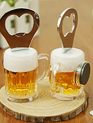 cheap -2 in 1 Stainless Steel Beer Shaped Bottle Opener Fridge Memo Magnet